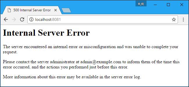 خطای 500 یا internal server error